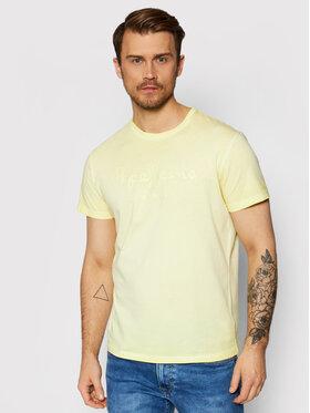 Pepe Jeans Pepe Jeans T-shirt West Sir PM504032 Žuta Regular Fit