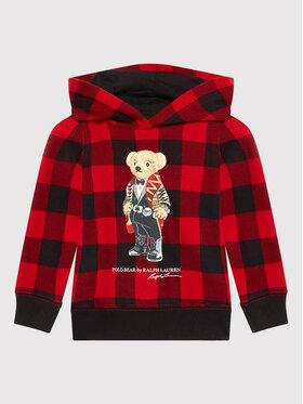 Polo Ralph Lauren Polo Ralph Lauren Bluza Ls Po Hood 311853367001 Czerwony Regular Fit