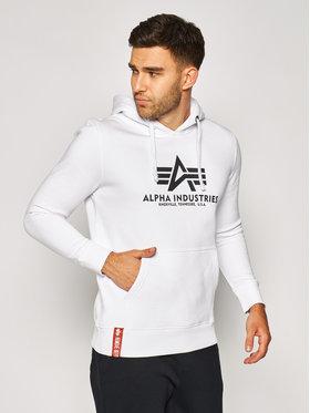 Alpha Industries Alpha Industries Pulóver Basic Hoody 178312 Fehér Regular Fit