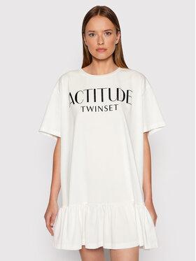 TWINSET TWINSET Hétköznapi ruha 212AT211C Fehér Regular Fit