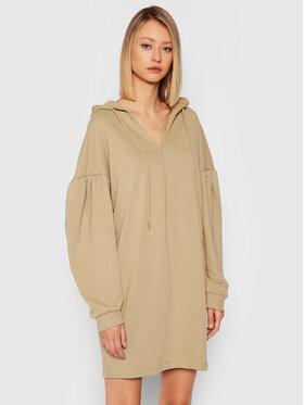 NA-KD NA-KD Плетена рокля 1100-004238-0052-003 Зелен Relaxed Fit