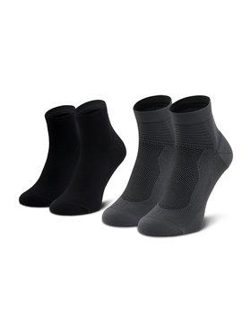 Asics Asics Unisex ilgų kojinių komplektas (2 poros) 2Ppk Ultra Lightweight Quarter 3013A268 Juoda