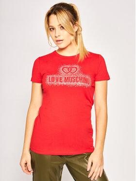 LOVE MOSCHINO LOVE MOSCHINO T-shirt W4F7360E1698 Rouge Regular Fit