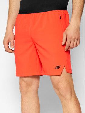 4F 4F Szorty sportowe H4L21-SKMF014 Czerwony Regular Fit
