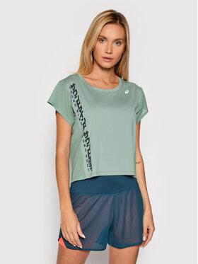 Asics Asics Технічна футболка Run Ss 2012B900 Зелений Regular Fit