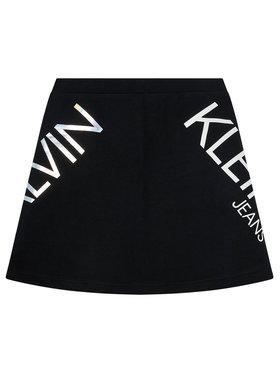Calvin Klein Jeans Calvin Klein Jeans Sukně Hero Logo IG0IG00607 Černá Regular Fit