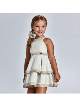 Mayoral Mayoral Елегантна рокля 3925 Бял Regular Fit