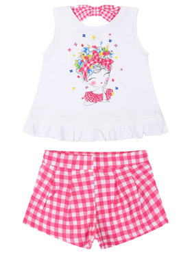 Mayoral Mayoral Completo top e pantaloncini 3286 Multicolore Regular Fit