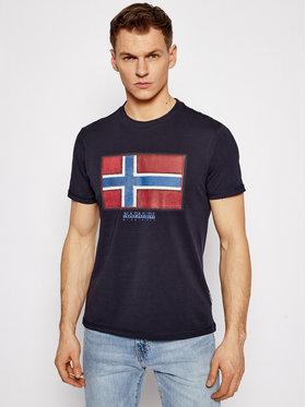 Napapijri Napapijri T-Shirt Sirol Ss NP0A4F9R Dunkelblau Regular Fit