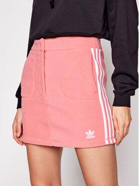 adidas adidas Fustă mini Fleece GN2801 Roz Slim Fit