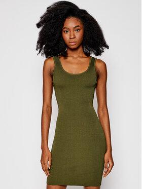 Guess Guess Každodenní šaty W1GK85 Z2U00 Zelená Slim Fit