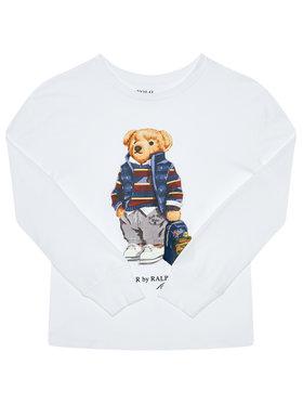 Polo Ralph Lauren Polo Ralph Lauren Блуза Ls Cn 323805681001 Бял Regular Fit