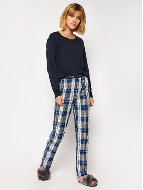 TOMMY HILFIGER TOMMY HILFIGER Pyjama Set Ls Woven UW0UW02564 Dunkelblau Regular Fit
