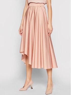 Nissa Nissa Trapecijos formos sijonas F12134 Rožinė Regular Fit