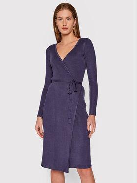 Guess Guess Úpletové šaty Everly W0RK51 R2BF3 Tmavomodrá Regular Fit