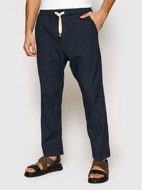 Imperial Imperial Текстилни панталони PD2UBJWTD Тъмносин Regular Fit