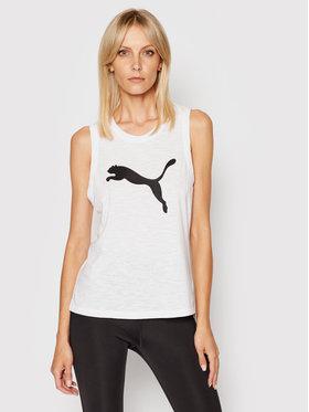 Puma Puma Тениска от техническо трико Cat Muscle 519519 Бял Regular Fit