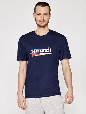 Sprandi Sprandi T-Shirt SS21-TSM004 Granatowy Regular Fit