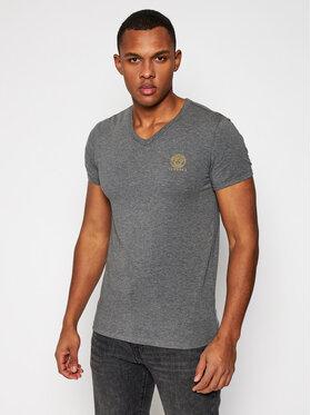 Versace Versace T-Shirt Scollo AUU01004 Grau Regular Fit