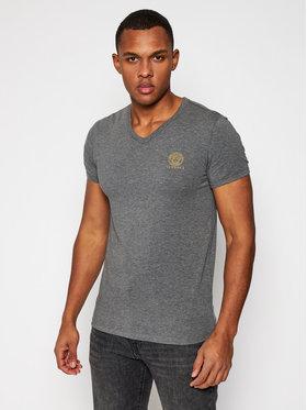 Versace Versace T-Shirt Scollo AUU01004 Szary Regular Fit