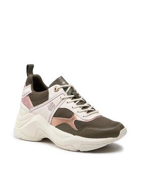 Tommy Hilfiger Tommy Hilfiger Sportcipő Fashion Wedge Sneaker FW0FW05799 Zöld