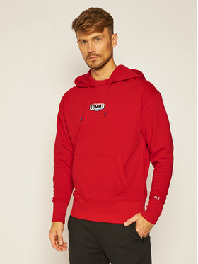Tommy Jeans Tommy Jeans Džemperis Patch Logo DM0DM08436 Raudona Regular Fit