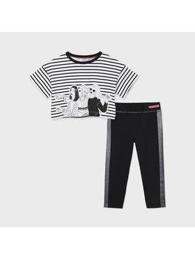 Mayoral Mayoral Set tricou și leggings 6731 Negru Regular Fit