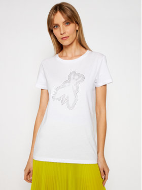 Patrizia Pepe Patrizia Pepe T-Shirt 8M1191/A4V5-W103 Bílá Regular Fit