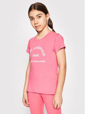KARL LAGERFELD KARL LAGERFELD T-shirt Z15M59 S Ružičasta Regular Fit