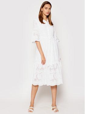 Rinascimento Rinascimento Sukienka letnia CFC0104521003 Biały Regular Fit