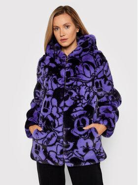 Fracomina Fracomina Кожено палто FD21WC4001O412N4 Виолетов Regular Fit