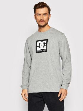 DC DC Marškinėliai ilgomis rankovėmis Square Star ADYZT04997 Pilka Classic Fit