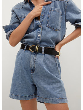 Mango Mango Szorty jeansowe Regina 87027133 Niebieski Regular Fit