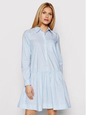 Tommy Hilfiger Tommy Hilfiger Sukienka koszulowa Pop Dobby WW0WW30358 Niebieski Relaxed Fit