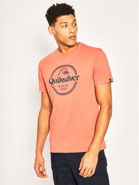Quiksilver Quiksilver Tričko Words Remain EQYZT05753 Bordová Regular Fit
