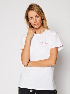 PLNY LALA PLNY LALA T-shirt Pina Colada 00184 Bijela Classic Fit