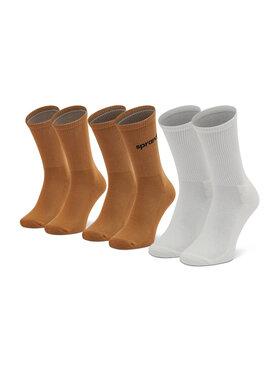 Sprandi Sprandi 3 pár hosszú szárú férfi zokni SS21-SSM011 Barna