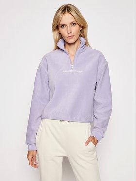 Calvin Klein Jeans Calvin Klein Jeans Fleecová mikina J20J215256 Fialová Regular Fit