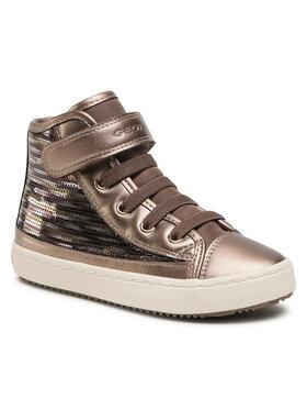 Geox Geox Sneakersy J Kalispera Girl J J044GJ 0ATAJ C9003 S Zlatá