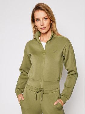 Guess Guess Bluză Scuba O1RA30 K7UW0 Verde Regular Fit