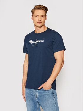 Pepe Jeans Pepe Jeans Tricou Eggo PM500465 Bleumarin Regular Fit
