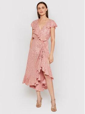 Nissa Nissa Kokteilinė suknelė RS12102 Rožinė Slim Fit
