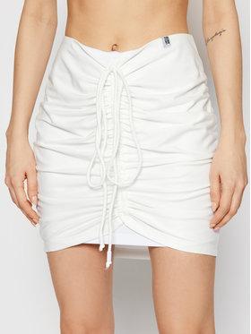 LaBellaMafia LaBellaMafia Mini sukně 21456 Bílá Slim Fit