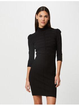Morgan Morgan Плетена рокля 212-RMTO Черен Slim Fit