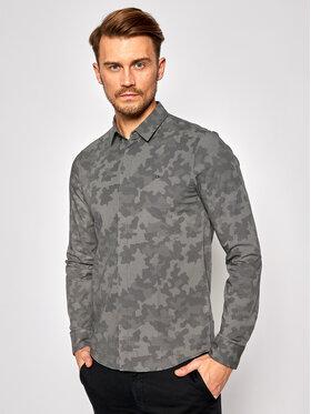 Calvin Klein Calvin Klein Koszula Geo Camo Print K10K106180 Szary Slim Fit