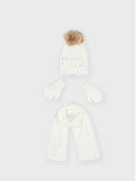 Mayoral Mayoral Комплект шапка, шал и ръкавици 10155 Бежов
