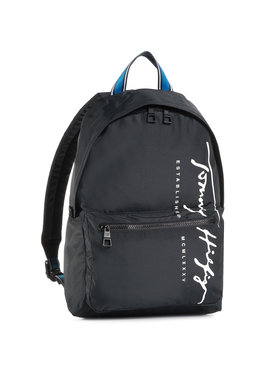 Tommy Hilfiger Tommy Hilfiger Plecak Th Signature Backpack AM0AM06394 Czarny