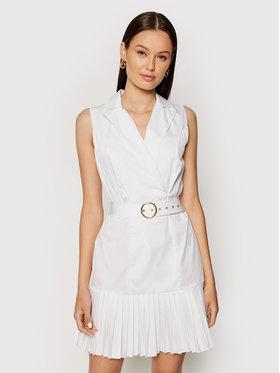 Rinascimento Rinascimento Koktejlové šaty CFC0017897002 Bílá Regular Fit