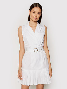 Rinascimento Rinascimento Sukienka koszulowa CFC0017897002 Biały Regular Fit