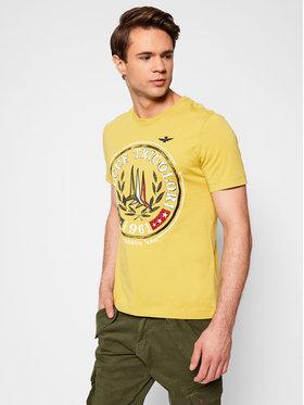 Aeronautica Militare Aeronautica Militare T-shirt 211TS1856J513 Žuta Regular Fit